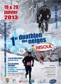 Image de l'évènement Duathlon des neiges de Risoul 2013