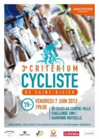 Image de l'évènement Critérium Cycliste de Saint-Dizier 2013