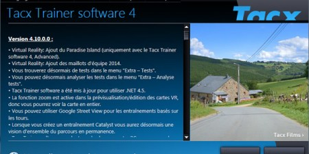 Installation logiciel Tacx Training Software 4