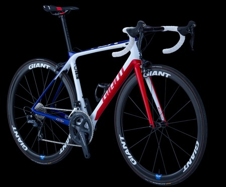 Cadre GIANT TCR Advanced Pro France : Bleu blanc rouge !