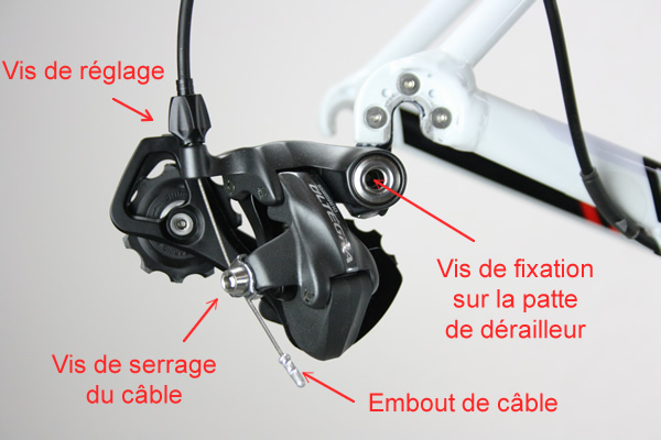 Démontage dérailleur arrière de vélo