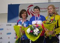 Entrainement cycliste au féminin