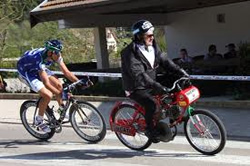 Entrainement vélo derrière Derny ou Scooter