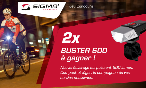 Jeu concours Sigma Buster 600