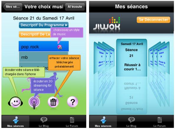 Jiwok est sur Iphone