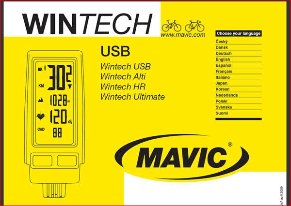 Logiciel Mavic Wintech Manager