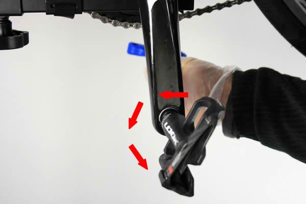 Montage pédale automatique de vélo