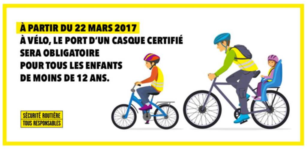 Port du casque obligatoire en mars 2017
