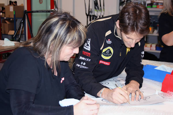 Romain Grosjean en visite chez Time