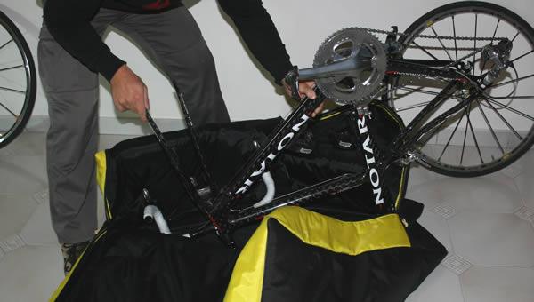 Positionner le vélo