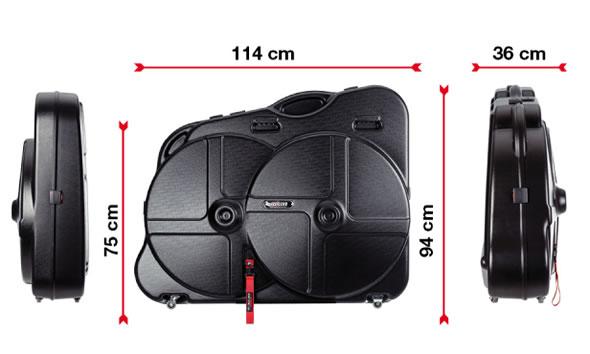 Dimensions de la valise de transport Scicon AeroTech Evolution TSA