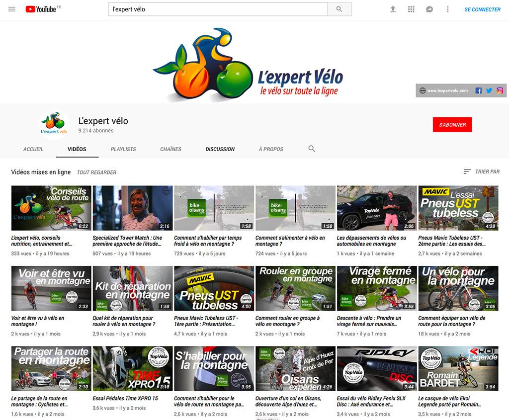 Chaine Youtube de l'Expert Vélo